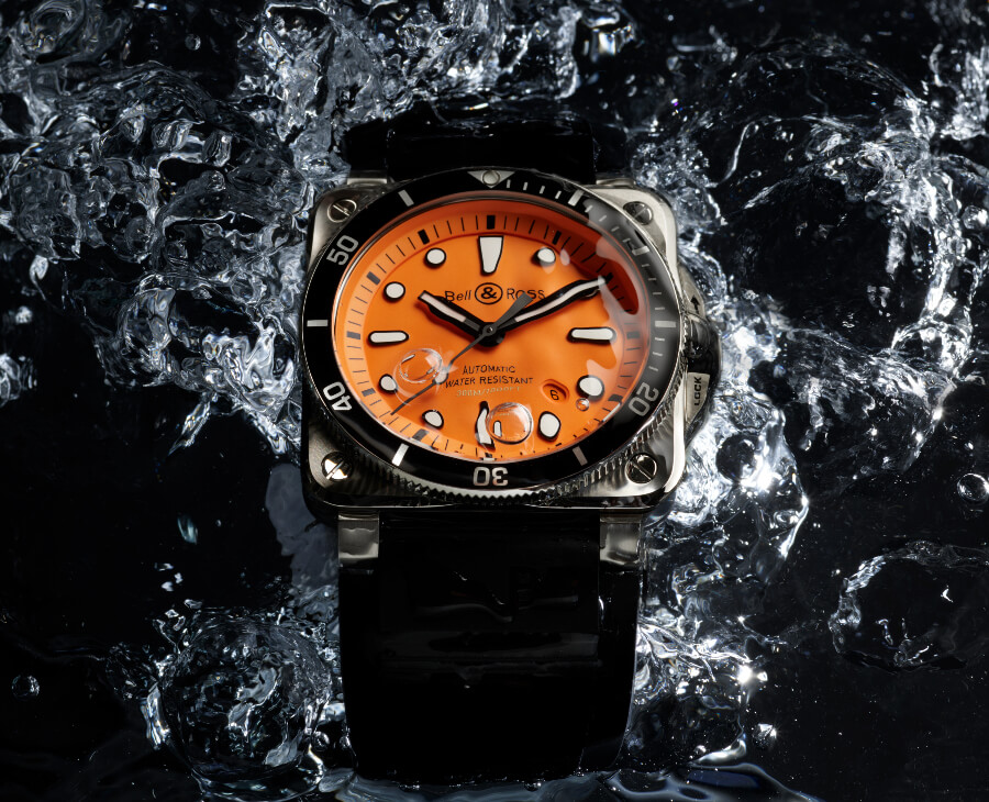 Bell & Ross BR 03-92 Diver Orange Dial Watch