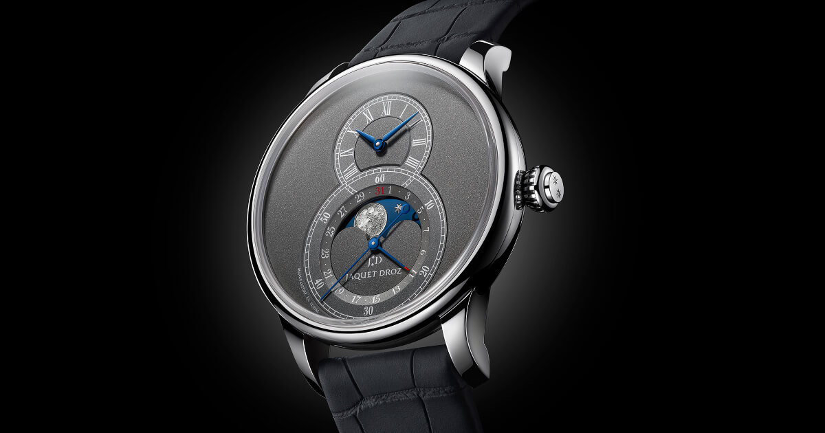 The New Jaquet Droz Grande Seconde Moon Anthracite (Price, Pictures and Specifications)