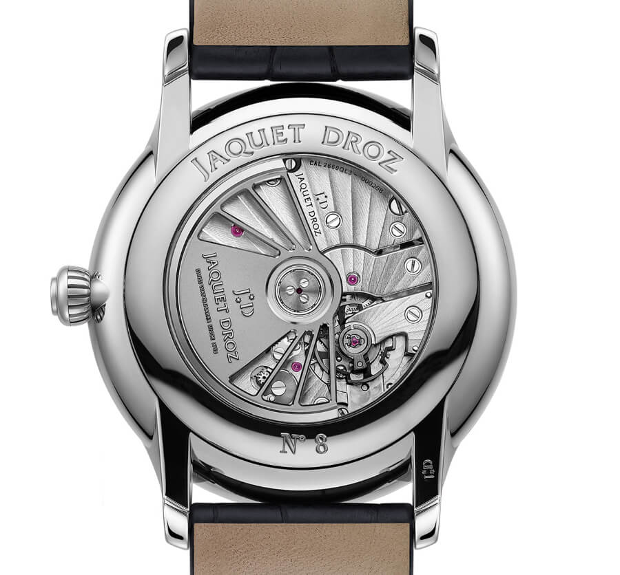Jaquet Droz Grande Seconde Moon Anthracite In House Movement