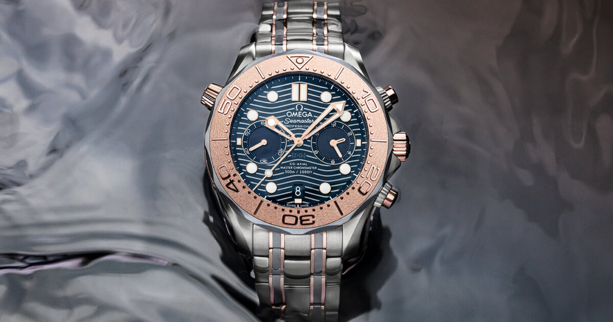 Introducing The Omega Seamaster Diver 300M Chronograph In Sedna Gold, Titanium And Tantalum (Price, Pictures and Specifications)