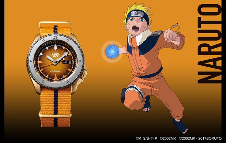 Seiko 5 Sports Naruto Uzumaki SRPF70K1