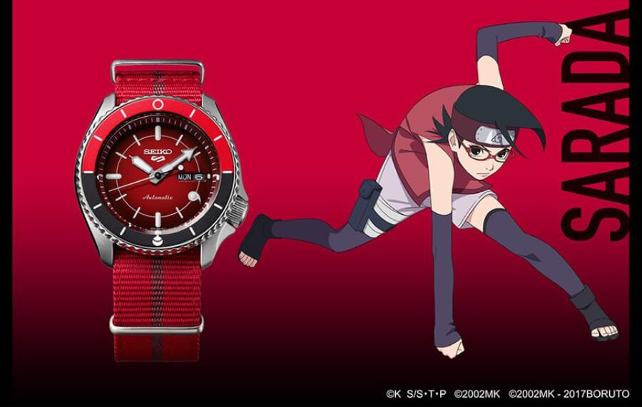 Seiko 5 Sports Sarada Uchiha SRPF67K1