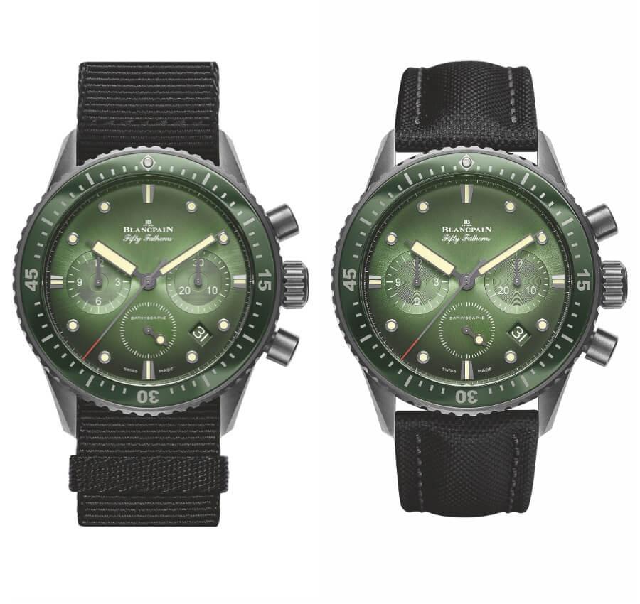 The New Blancpain Bathyscaphe Chronographe Flyback Green Dial