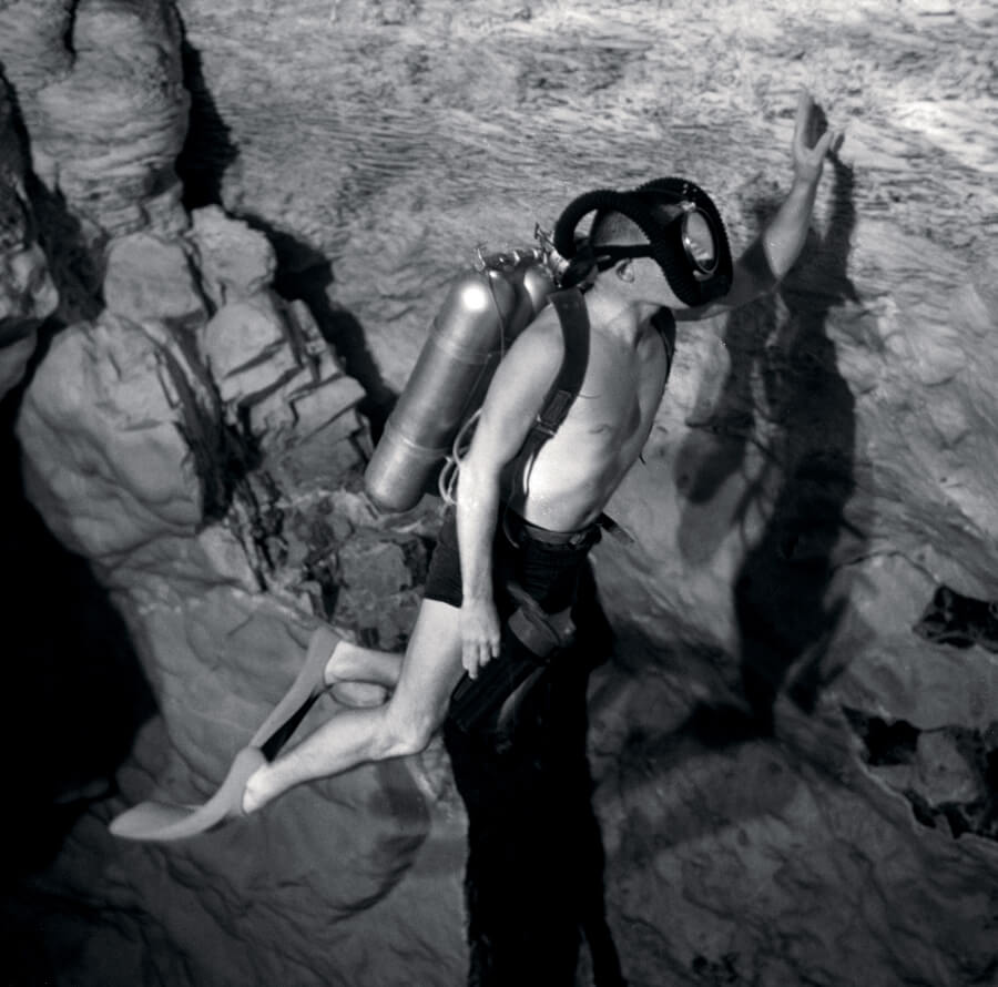 Ernest H. Brooks II dive in Death Valley in the United States