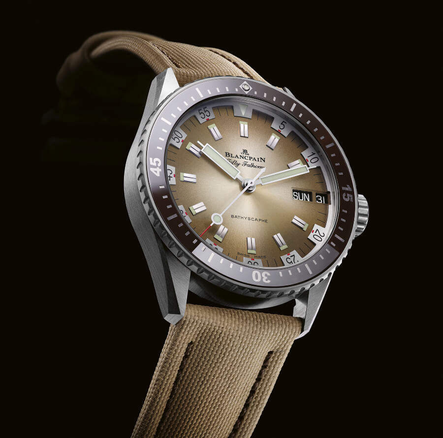 The New Blancpain Bathyscaphe Day Date Desert Edition ref. 5052-1146-E52A