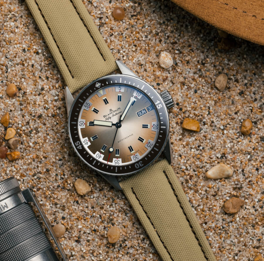 Blancpain Bathyscaphe Day Date Desert Edition ref. 5052-1146-E52A  Watch Review