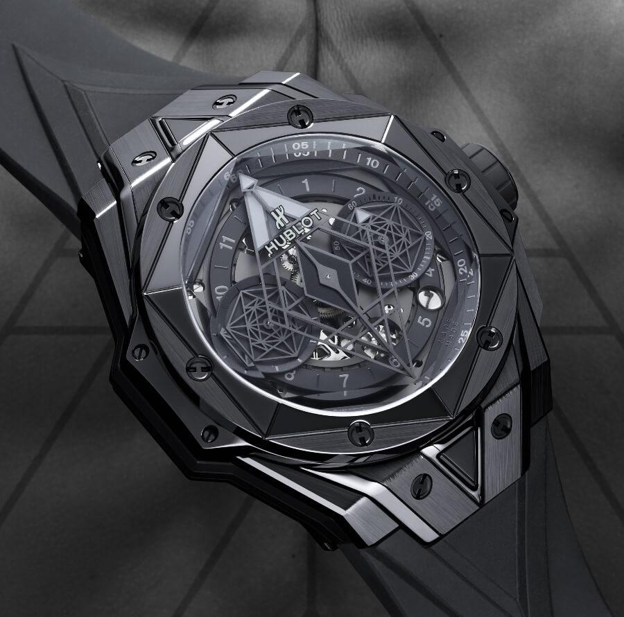 Chronograph ublot Big Bang Unico Sang Bleu II All Black