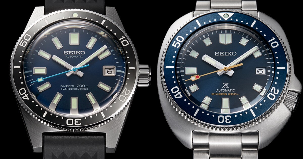 Seiko Prospex Diver 55th Anniversary SLA043J1 and SPB183J1 Limited Editions (Price, Pictures and Specifications)