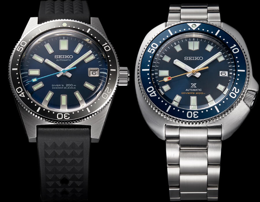 Seiko Prospex Diver 55th Anniversary SLA043J1 and SPB183J1 Limited Editions