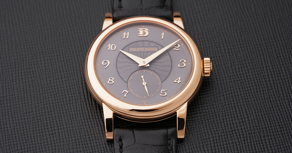 Philippe Dufour Simplicity 20th Anniversary Model In Rose Gold Number 00/20