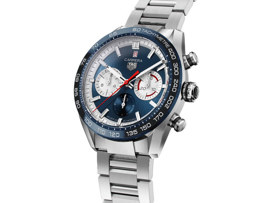 TAG Heuer Carrera Sport Chronograph 160 Years Special Edition Blue Dial Bezel