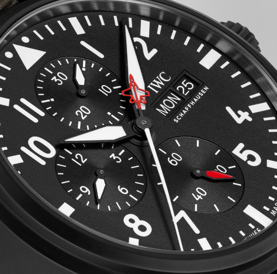 "IWC Pilot's Watch Chronograph Top Gun Edition ""SFTI"" Ref. IW389104 Dial"