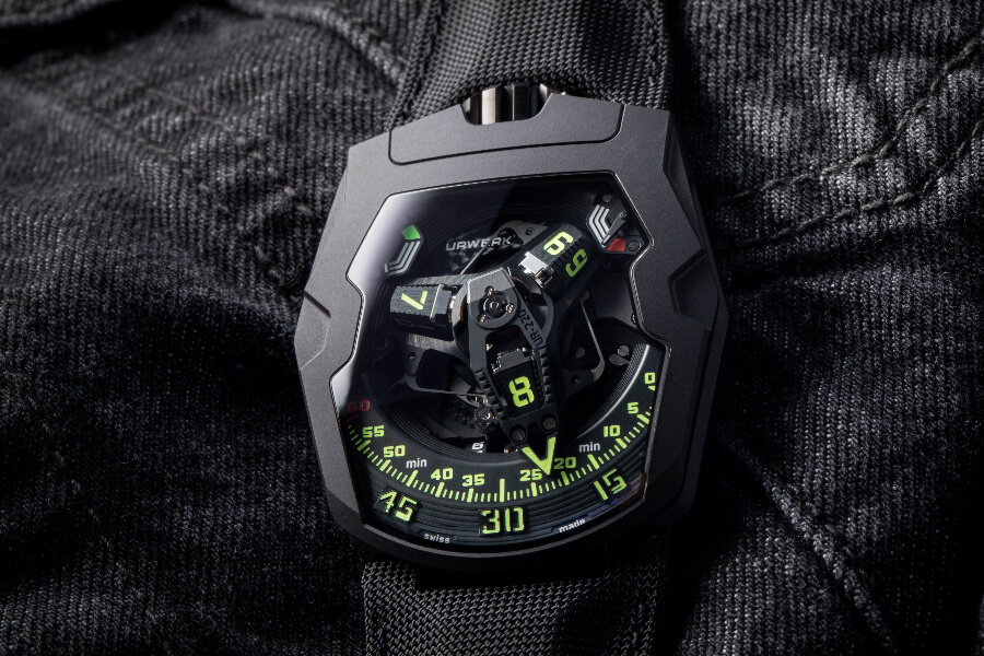 "Urwerk UR-220 ""Falcon Project"" All Black edition"