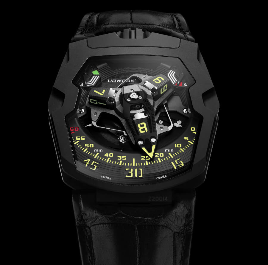 "TheNew Urwerk UR-220 ""Falcon Project"" All Black edition"
