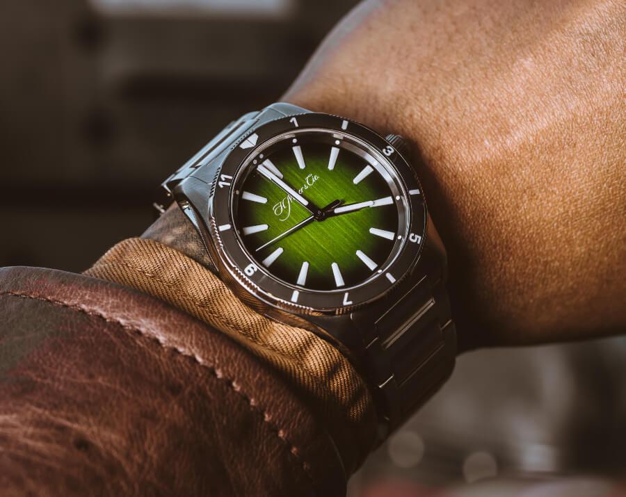 Green Dial Pilot  watch