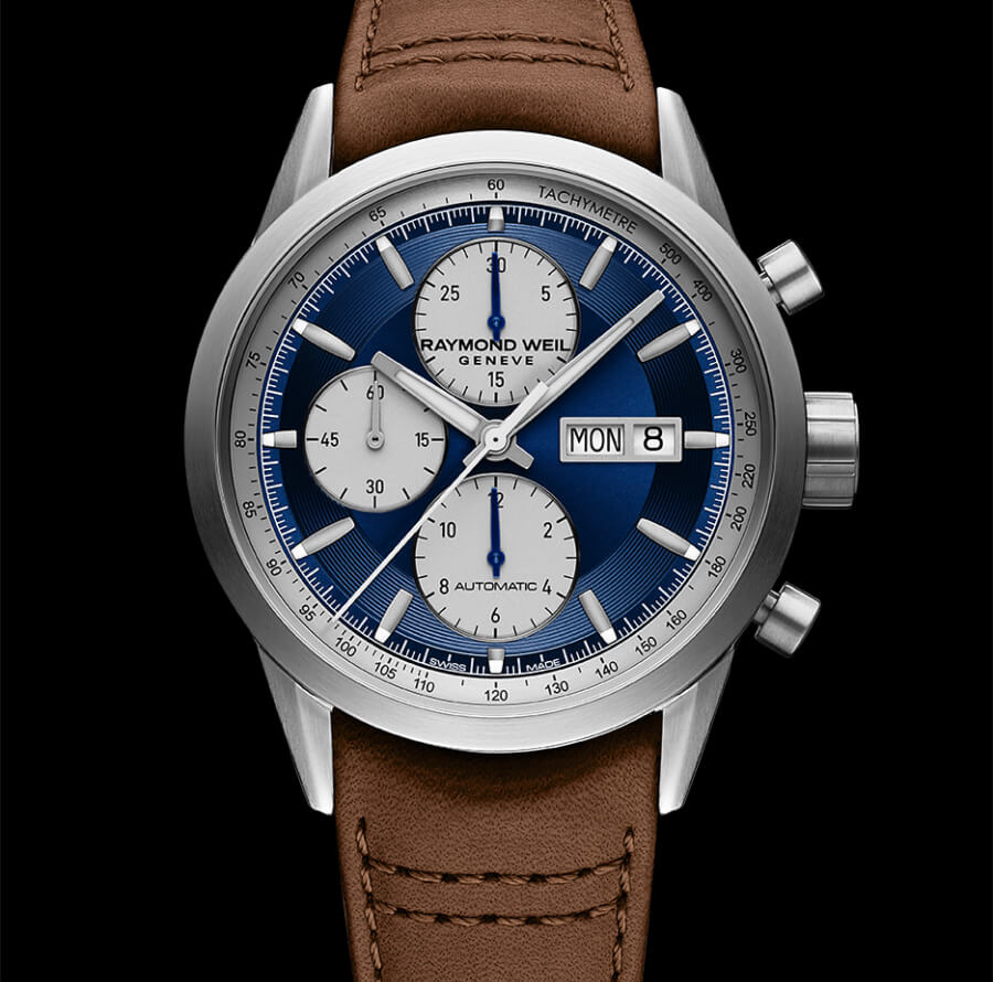 The New Raymond Weil Freelancer Chronograph Deep Blue Satin Dial Ref. 7732-TIC-50421