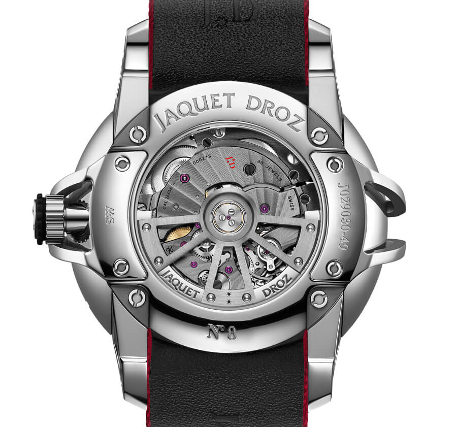 Jaquet Droz SW Steel-Ceramic In House Movement