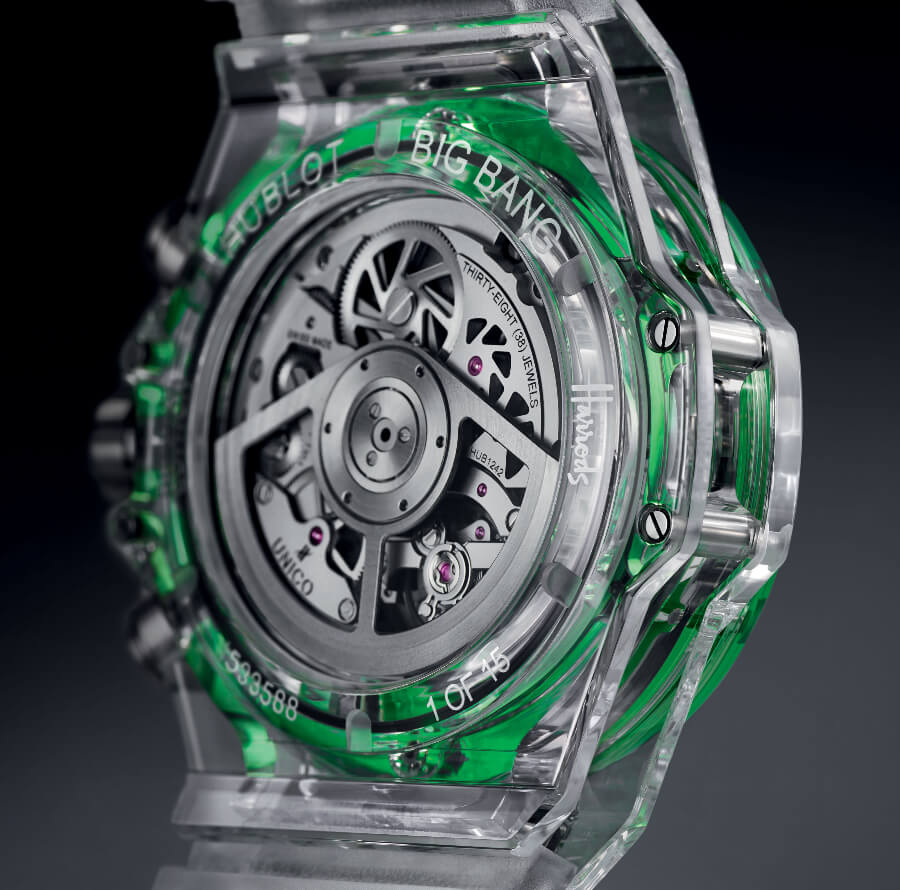 Hublot Big Bang Unico Sapphire Harrods Special Edition In House Movement