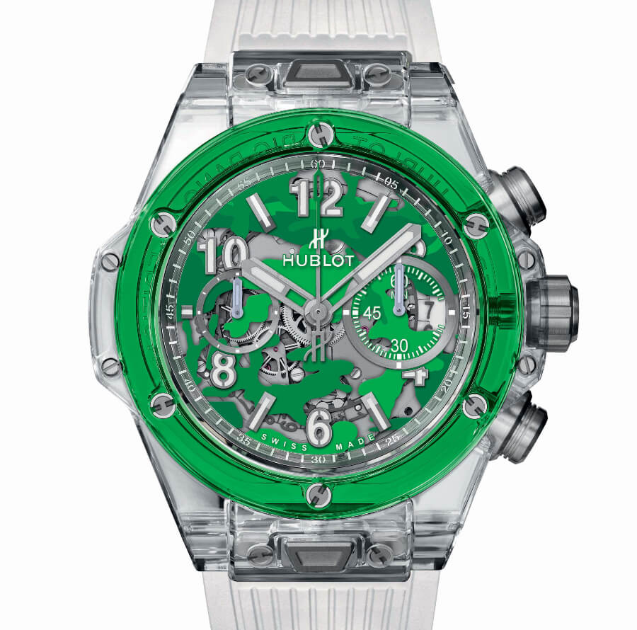 Green Dial Chronograph watch