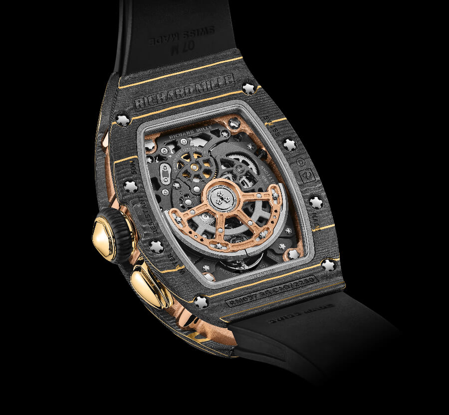 Richard Mille RM 037 Gold Carbon TPT In Houe Movement