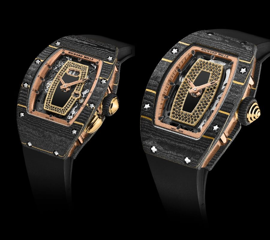 Richard Mille RM 07-01 and RM 037 Gold Carbon TPT