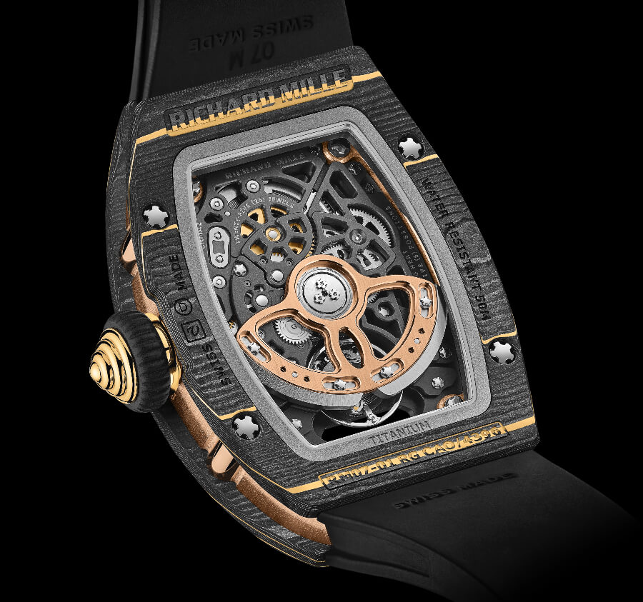 Richard Mille RM 07-01 Gold Carbon TPT Movement