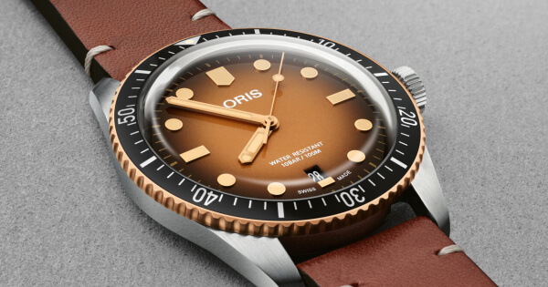 Oris Divers Sixty-Five Brown Gradient Dial (Price, Pictures and Specifications)