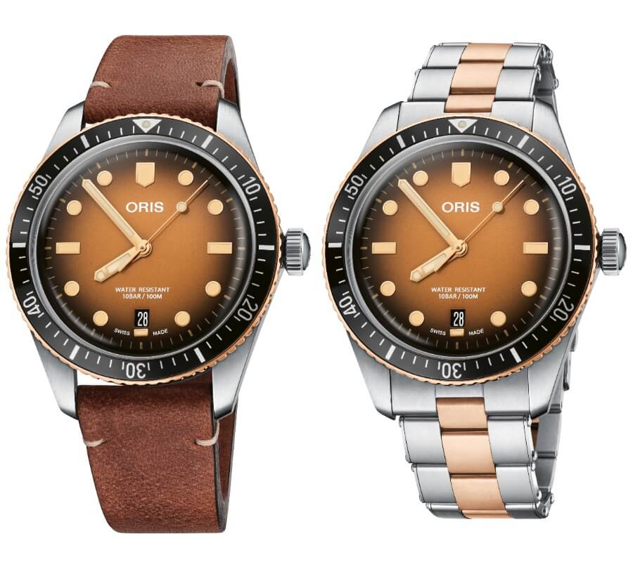 The New Oris Divers Sixty-Five Brown Gradient Dial
