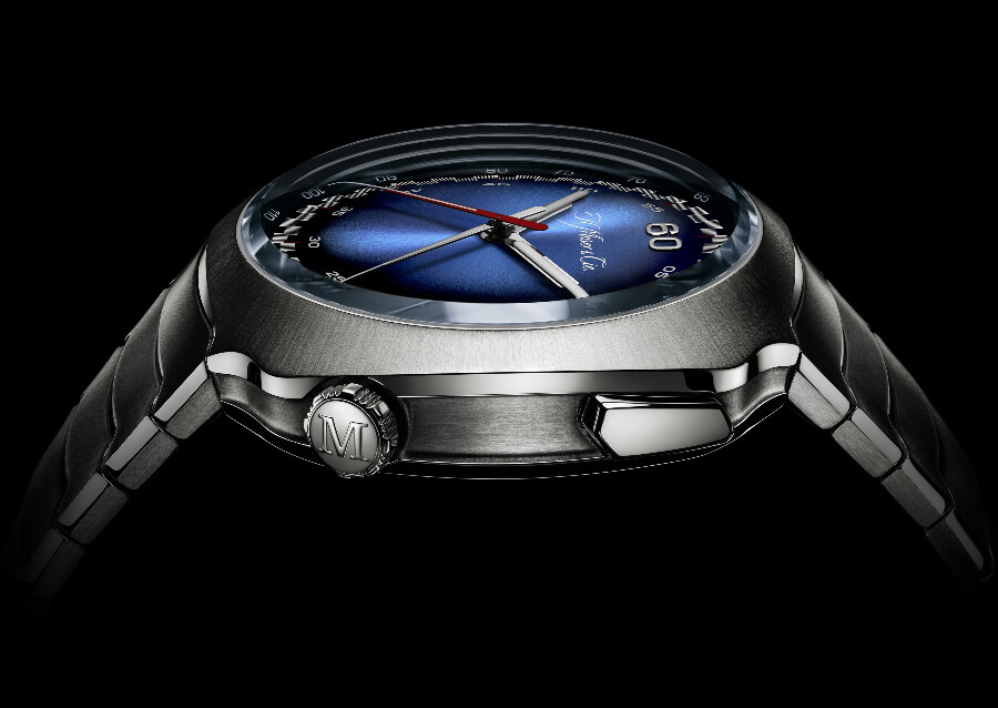 H. Moser & Cie. Streamliner Flyback Chronograph Automatic Funky Blue Case
