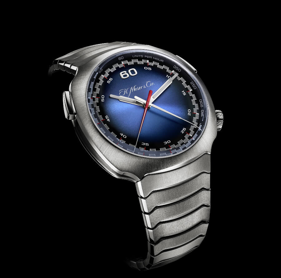 H. Moser & Cie. Streamliner Flyback Chronograph Automatic Funky Blue
