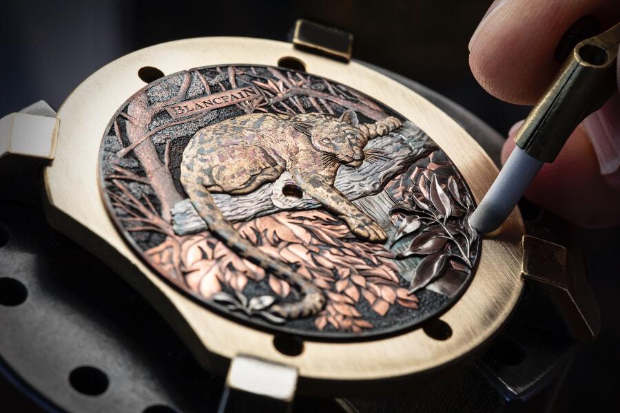 Blancpain Métiers d'Art Shakudō Watch dial