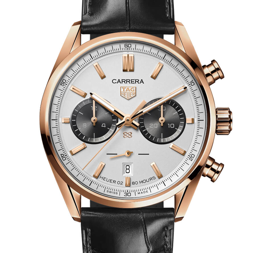 The New TAG Heuer Carrera Chronograph Jack Heuer Birthday Gold Limited Edition