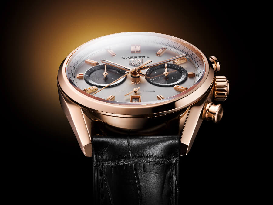 TAG Heuer Carrera Chronograph Jack Heuer Birthday Gold Limited Edition Ref. CBN2041.FC8306