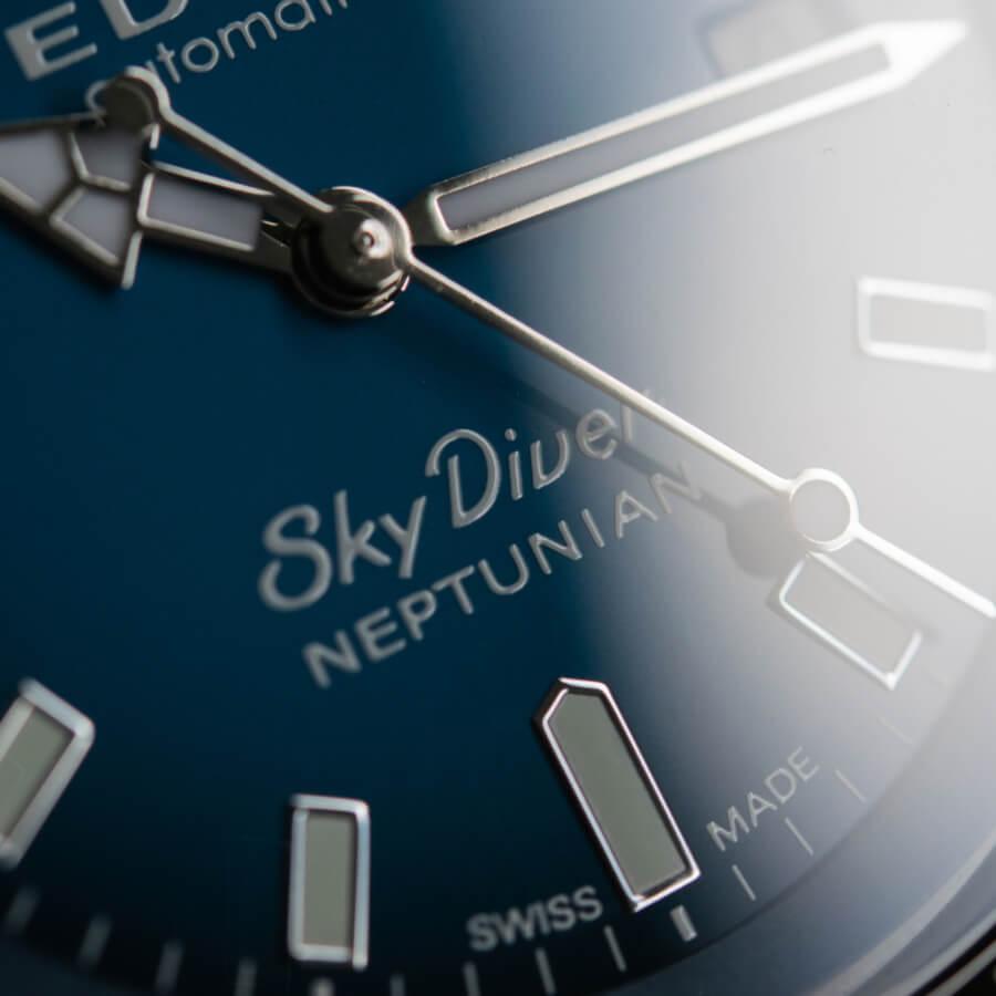 Edox Skydiver Neptunian Dial