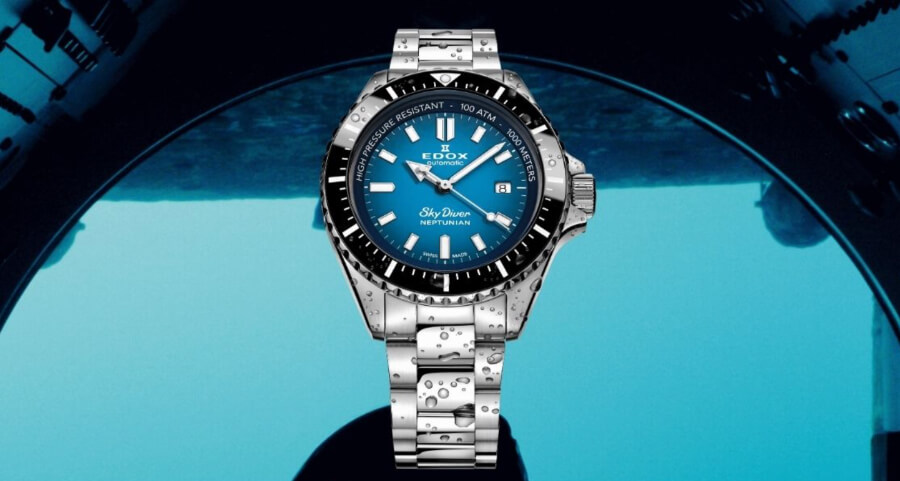 Edox Skydiver Neptunian Ref. 80120 3NM BUIDN Watch Review
