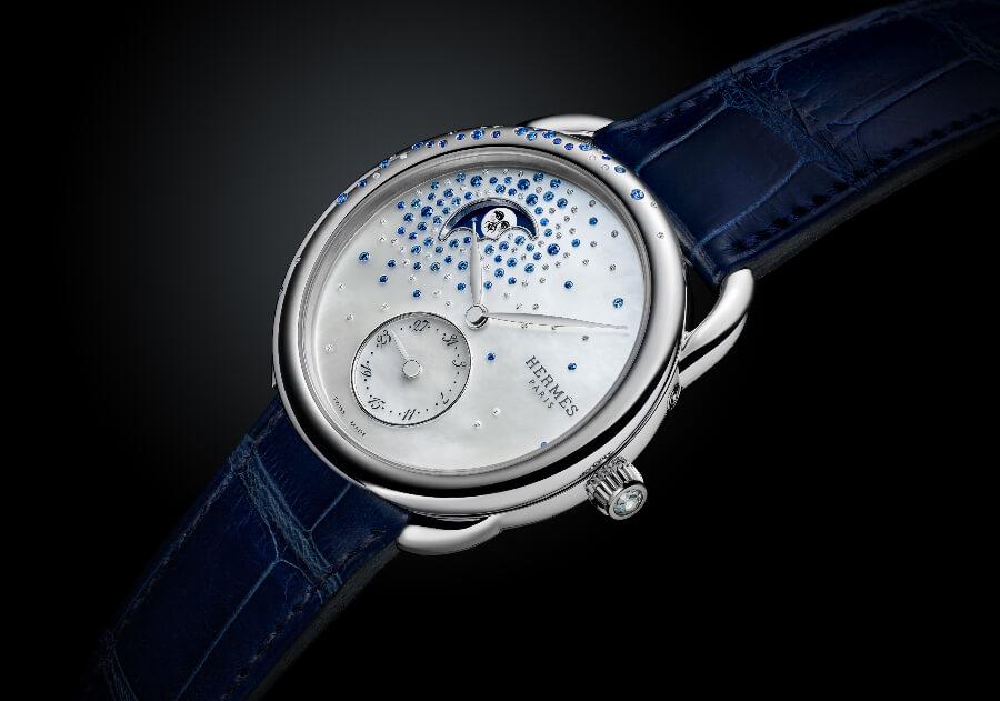 Hermes Arceau Petite Lune Jeté De Diamants Et Saphirs Watch Review