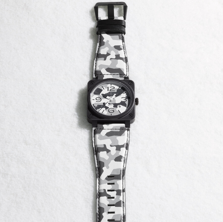 Bell & Ross BR03-92 White Camo Men Watches