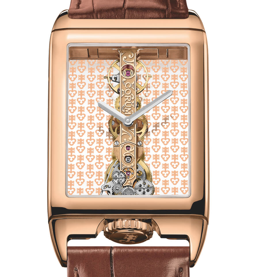 The New Golden Bridge Rectangle 40th Anniversary in 18k rose gold