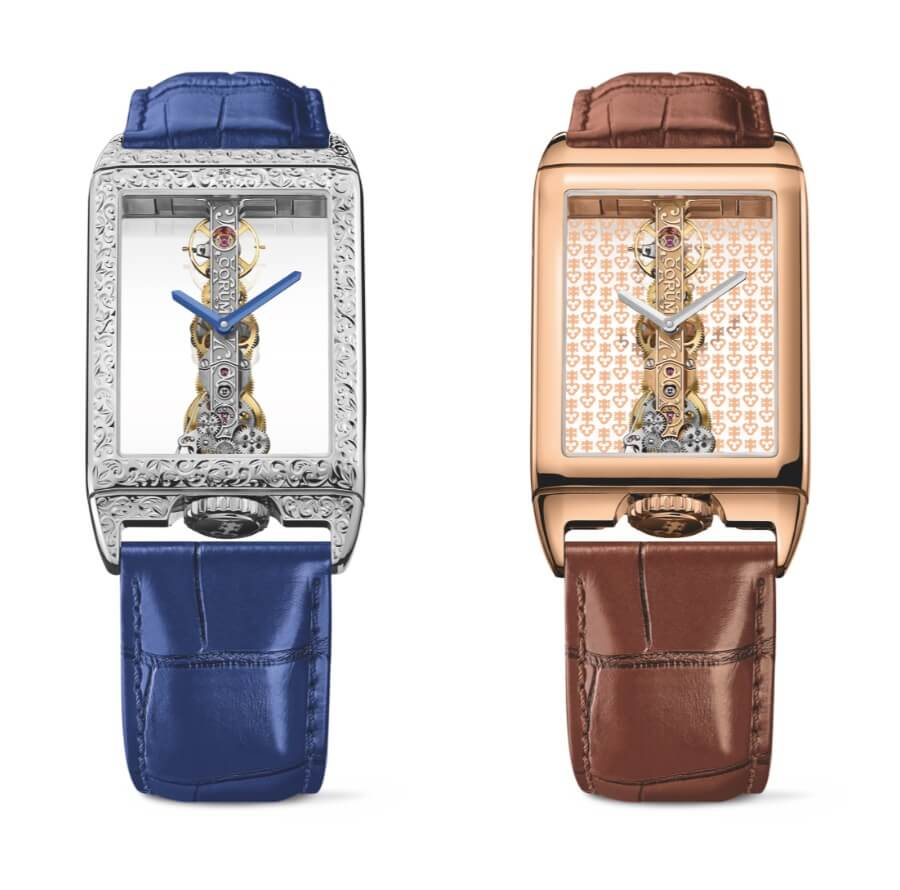 Corum Golden Bridge Rectangle 40th Anniversary In 18k White Gold and 18k Rose Gold  Watch Review