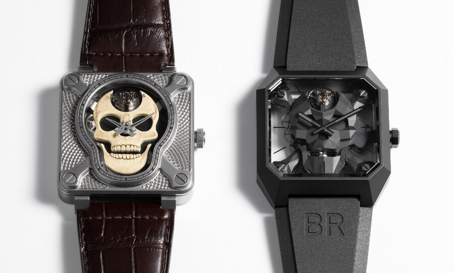 Bell & Ross BR01 Laughing BR 01 Skull and Cyber Skull