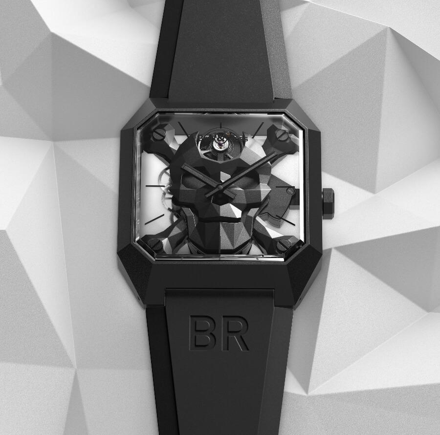 Men Watches Bell & Ross BR 01 Cyber Skull Ref. BR01-CSK-CE/SRB
