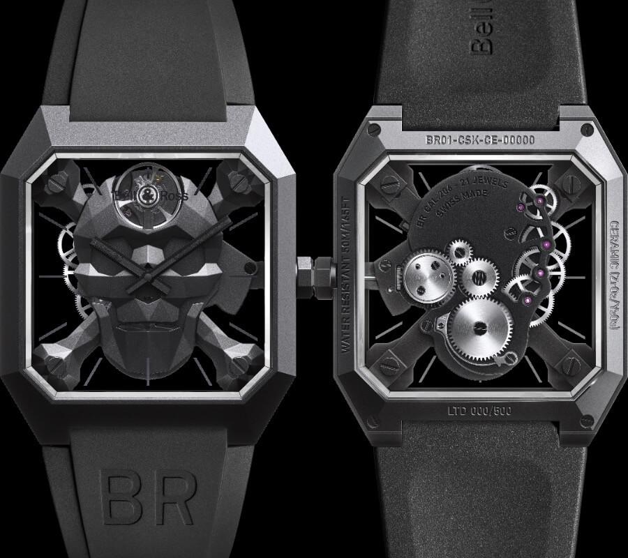Bell & Ross BR 01 Cyber Skull Ref. BR01-CSK-CE/SRB