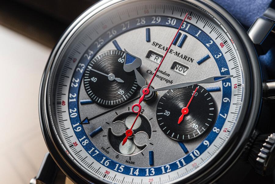 Speake-Marin London Chronograph Triple Date Dial