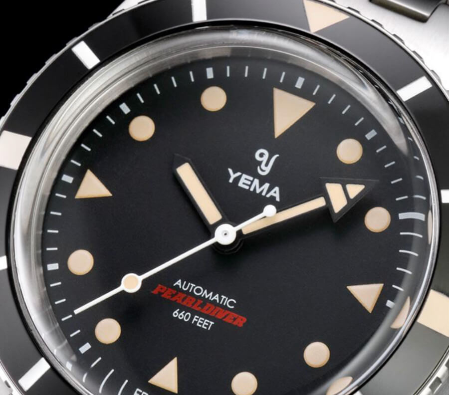 Vintage Yema Pearldiver Watch