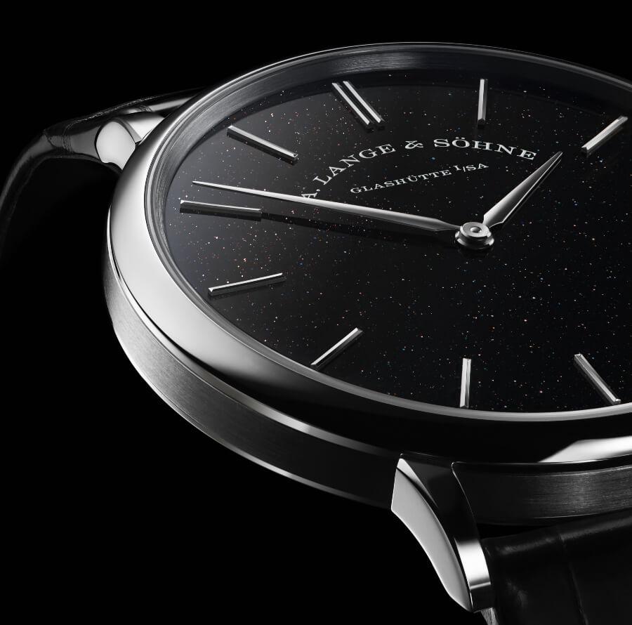 A. Lange & Söhne Saxonia Thin Ref. 211.087 black aventurine dial
