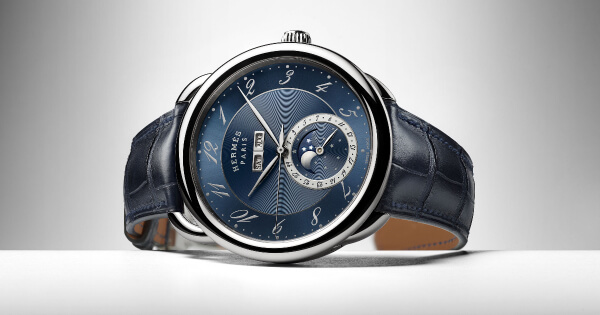 Hermes Arceau Grande Lune Blue Dial (Price, Pictures and Specifications)