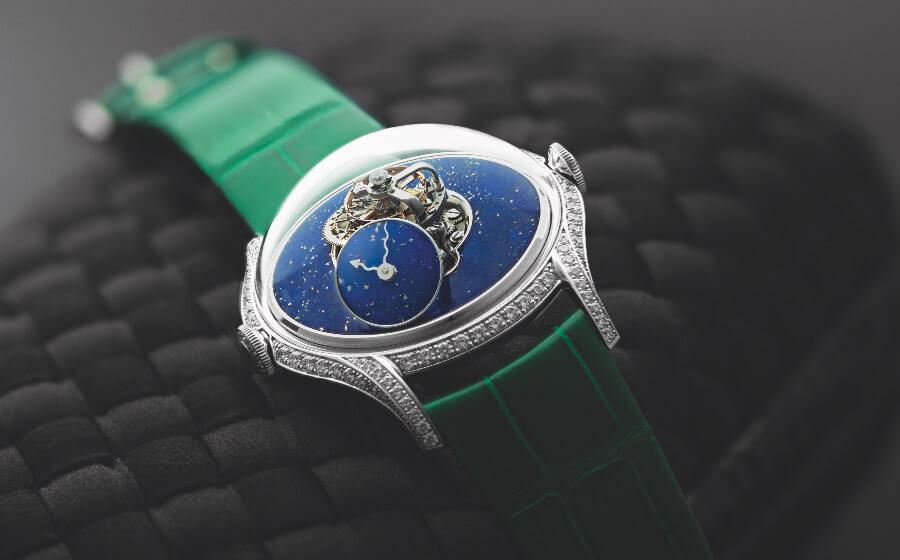 Review MB&F Legacy Machine FlyingT Lapis Lazuli
