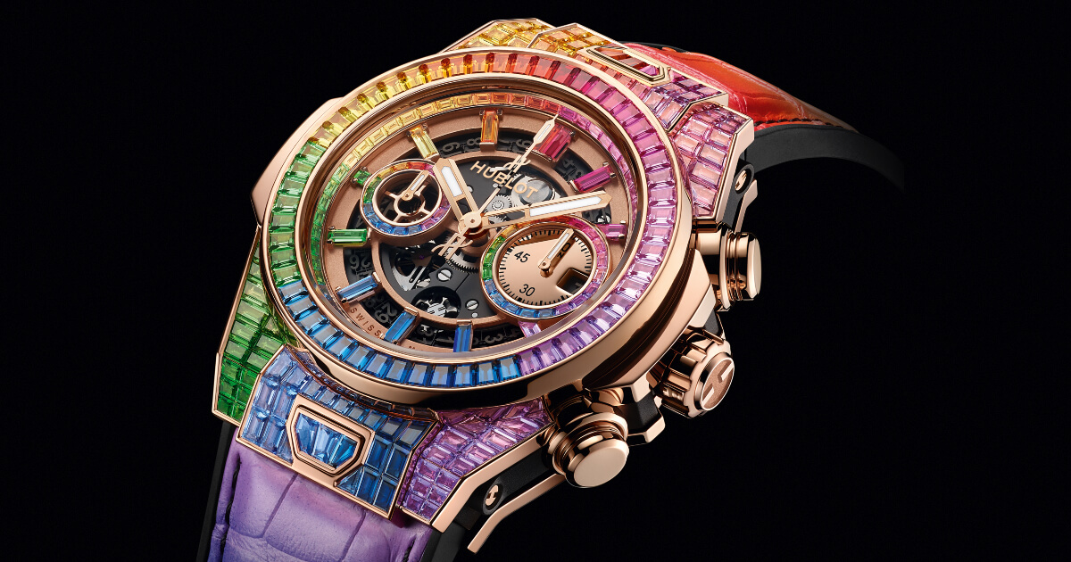 Hublot Big Bang Unico Full Baguette King Gold Rainbow (Price, Pictures and Specifications)