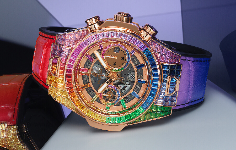 Hublot Big Bang Unico Full Baguette King Gold Rainbow watch Review