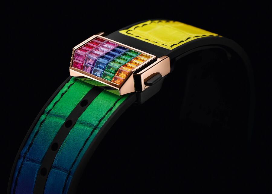 Hublot Big Bang Unico Full Baguette King Gold Rainbow Ref. 411.OX.9099.LR.9999 Strap